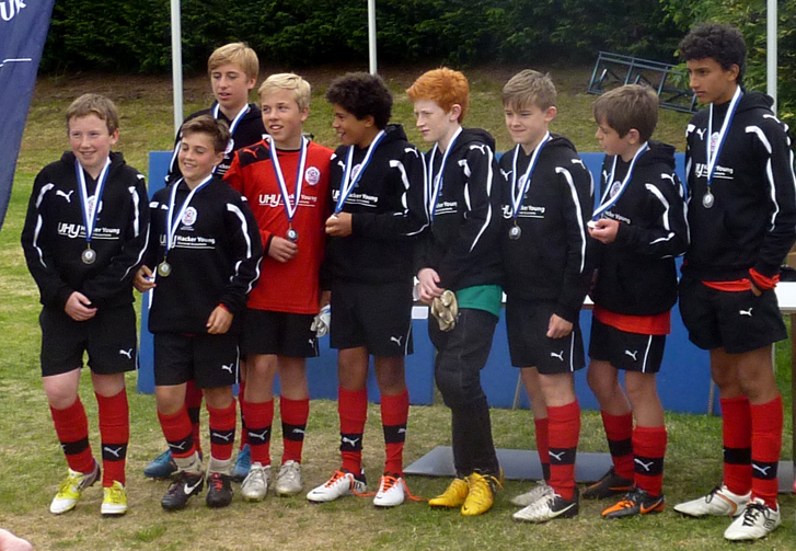U13s team shot with medals